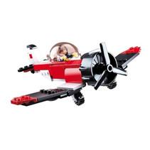 stuntvliegtuig junior 15,9 cm rood/zwart/wit 128-delig