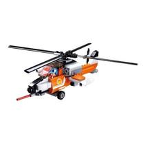 blushelikopter junior 23,1 cm oranje/wit 129-delig