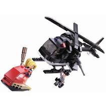 helikopter Politie junior 23,7 cm ABS zwart 221-delig