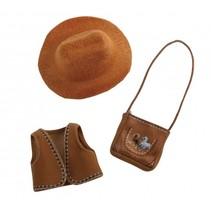 Cowgirl accessoires tienerpop set 3-delig