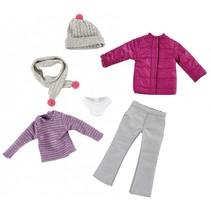 Winter outfit tienerpop kledingset 6-delig
