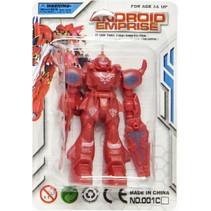 gevechtsrobot Android Emprise jongens 9 cm rood