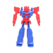 bouwset mini Robot blauw/rood 3 cm