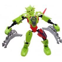 robot Earth Warrior 18 cm groen