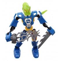 robot Earth Warrior 18 cm blauw