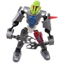 robot Earth Warrior 18 cm zilver