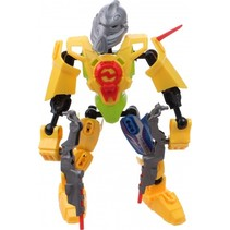 robot Earth Warrior 18 cm geel