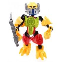 robot Thunderbolt Warrior Golden Gaurdian 13 cm geel