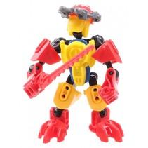 robot Thunderbolt Warrior Flame Swordsman 13 cm rood