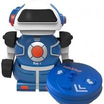 RC robot Mini Bot speelfiguur 10 cm blauw in blik
