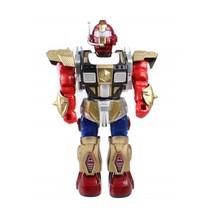 robot met licht en geluid 30 cm rood/goud