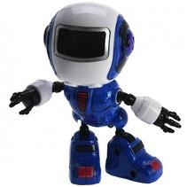 robot met licht en geluid blauw 11 cm