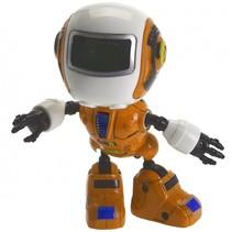 robot met licht en geluid oranje 11 cm