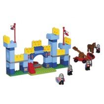 bouwset kasteel met katapult 91-delig