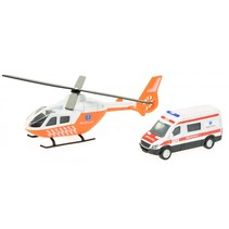 trauma helikopter + ambulance oranje/wit