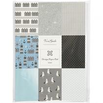 designpapier blok blauw 21 x 30 cm 24 vellen