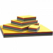 gekleurd karton 1500 stuks 180 g multicolor
