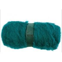 gekaarde wol groen 100 gr