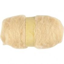 gekaarde wol beige 100 gr