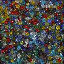 Rocaille-mix 4 mm transparant kleuren