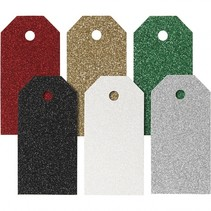 labels 90 stuks 5 x 10 cm multicolor karton