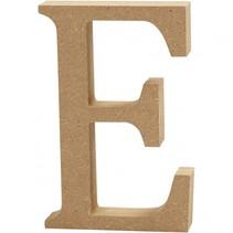 letter E MDF 13 cm