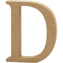 letter D MDF 13 cm