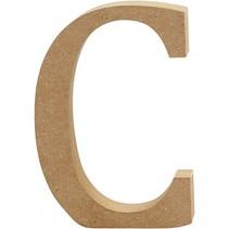 letter C MDF 13 cm
