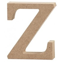 letter z MDF 8 cm