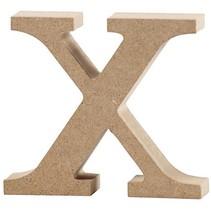 letter x MDF 8 cm