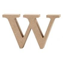 letter w MDF 8 cm