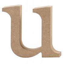 letter u MDF 8,5 cm