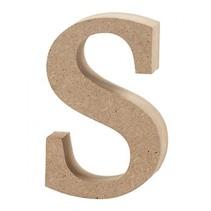 letter s MDF 8,5 cm