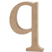 letter q MDF 12,2 cm