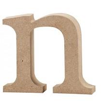 letter n MDF 8 cm