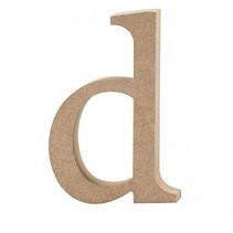 letter d MDF 12,2 cm