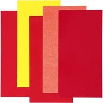 decoratiefolie rood 10 x 20 cm 5 stuks