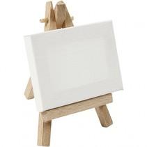 gespannen canvas 12 x 8 x 8 cm wit/bruin
