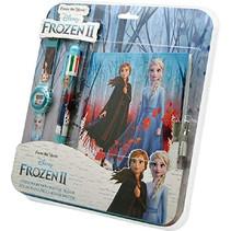 dagboek-set Frozen II meisjes 27 cm blauw 3-delig
