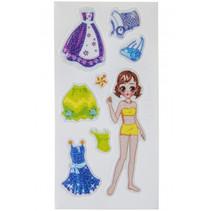 stickersvel aankleedpop meisjes 13 x 5 cm