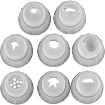 Mondstukken voor Silk Clay Creamy grijs 8 stuks