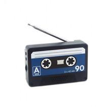 radio magnetisch 6,5 x 10 cm PVC zwart