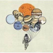 canvas schilderij 20 x 20 x 4 cm Planets