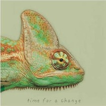 canvas schilderij 20 x 20 x 4 cm Chameleon