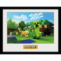 poster in lijst Minecraft Ocelot Chase 30 x 40 cm