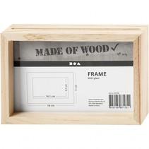 houten dubbelzijdige fotolijst 16x11 cm