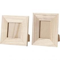 fotolijsten Keizerin 10/11 cm hout blank 2-delig