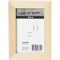 fotolijst Keizerin 10,5 x 15,6 cm hout blank per stuk