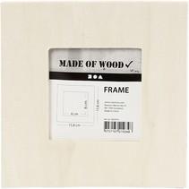 houten fotolijst met standaard 15,8 x 15,8 cm