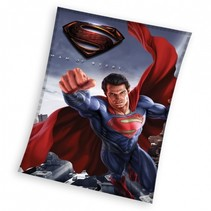 fleece-deken Superman donkerblauw 110 x 140 cm